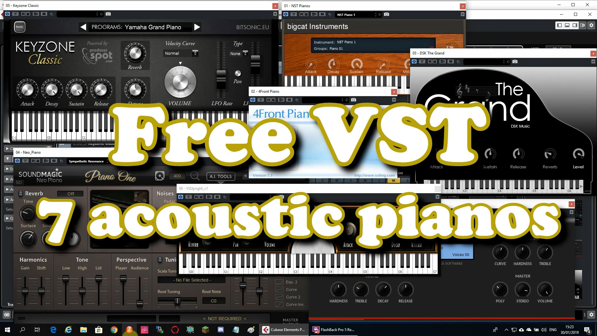 Free VST - 7 Acoustic Pianos