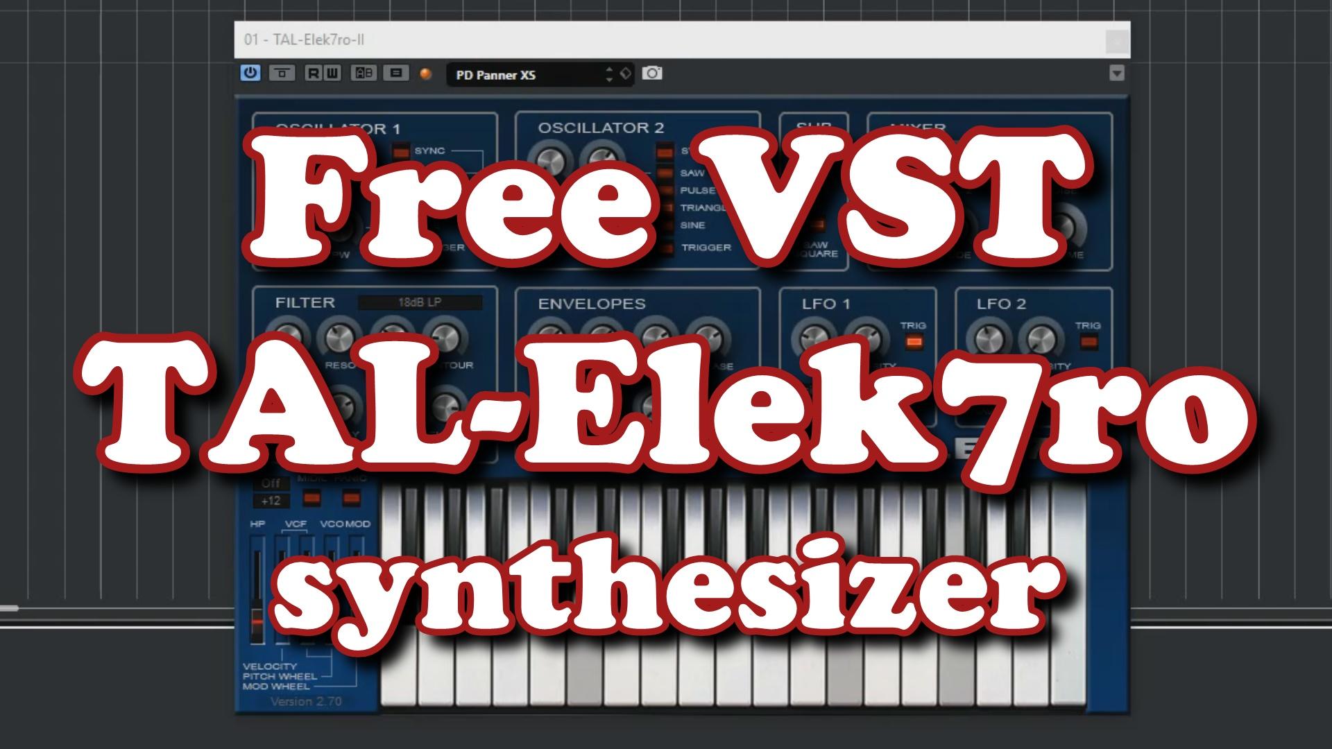 HRS Courses - Free VST - TAL-Elek7ro
